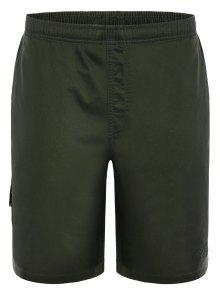 Side Pockets Cargo Bermuda Shorts - Army Green L