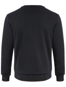 Pullover Sudadera Impreso Negro Panel M Fishnet rRqw8Cr