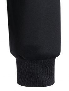 Pullover M Sudadera Panel Negro Fishnet Impreso rfrxCq