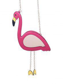 Novelty Flamingo Shaped Crossbody Bag - Rose Red