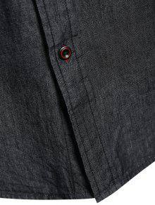 De Bolsillo Solo L De Pecho Mezclilla Un De Camisa Negro OUUSwTvqn