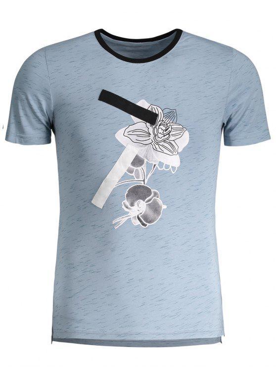 Camiseta gráfica manchada para hombre del jersey - Azul 3XL