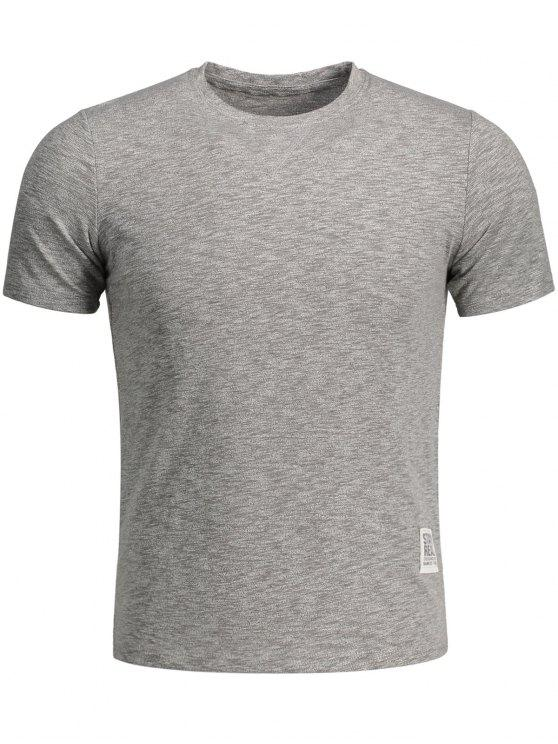 Herrn Sweat Top mit Farbmischung - Grau 2XL