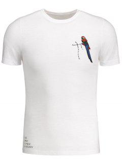 Crewneck Bird Patched Tee - White 3xl
