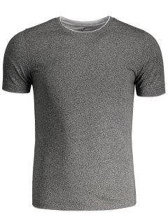 Short Sleeve Mens Space Dye Tee - Gray 3xl