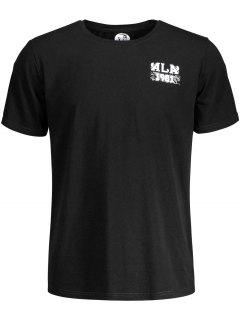 T-shirt Manches Courtes Imprimé Crâne - Noir M