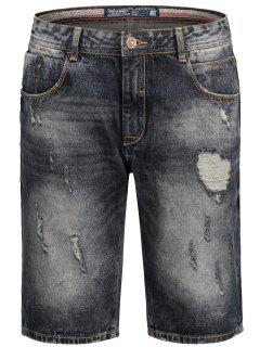 Bermuda Ripped Denim Shorts - Black L