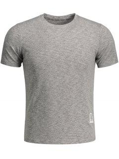 Mens Space Dye Sweat Top - Gray M