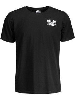 Kurzarm T-Shirt Mit Schädeldruck Und Grafik - Schwarz L