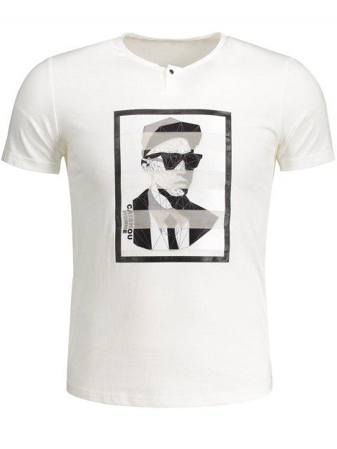 best Mens Graphic Cotton Tee - WHITE 2XL Mobile