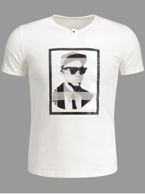 new Mens Graphic Cotton Tee - WHITE XL Mobile