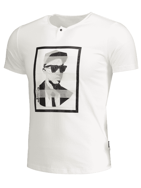 outfit Mens Graphic Cotton Tee - WHITE L Mobile