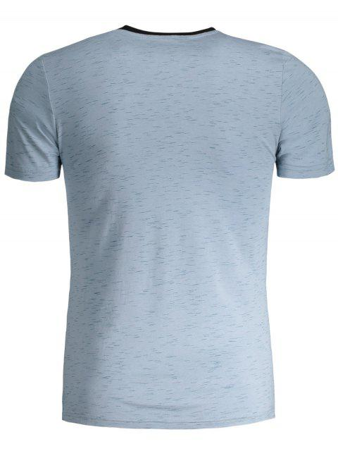 online Mens Speckled Graphic Jersey Tee - BLUE 4XL Mobile