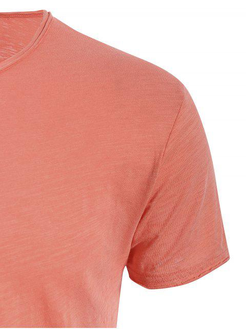 shop Mens Raw Edge Cotton Basic Tee - JACINTH 2XL Mobile