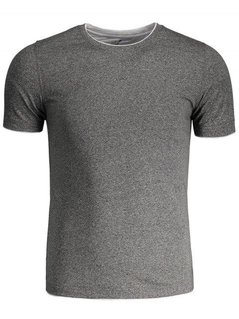 outfits Short Sleeve Mens Space Dye Tee - GRAY 4XL Mobile