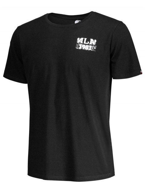 T-shirt à manches courtes à imprimé crânien - Noir M Mobile