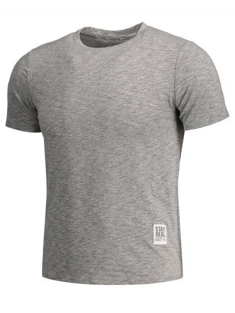 new Mens Space Dye Sweat Top - GRAY L Mobile