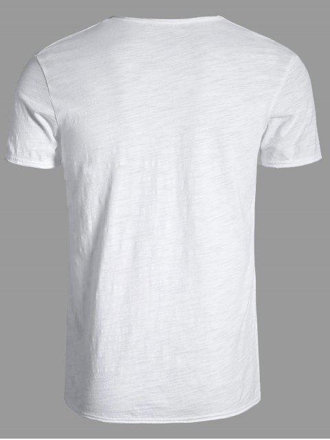 lady Mens V Neck Cotton Basic Tee - WHITE XL Mobile