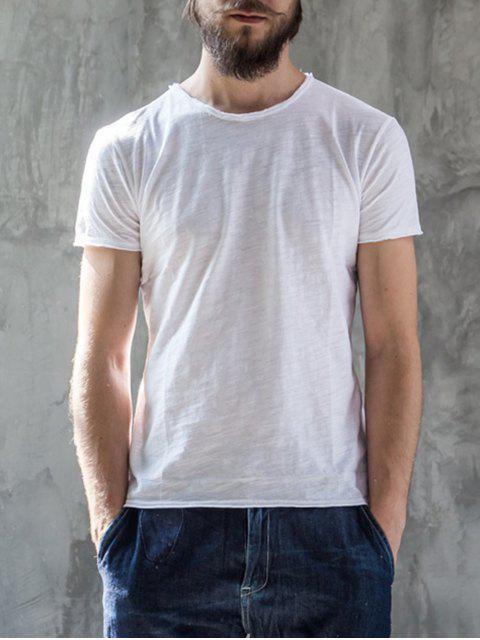 T-shirt à manches courtes - Blanc XL Mobile
