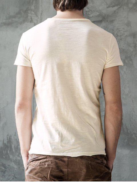 T-shirt à manches courtes - Blanc Cassé 2XL Mobile