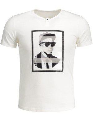 Camiseta De Algodón Gráfica Para Hombre - Blanco 2xl
