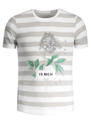 Camiseta De Crewneck De La Impresión Del árbol De - Gris Y Negro 4xl