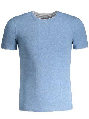 Camiseta De Manga Corta Para Hombre - Azul 4xl