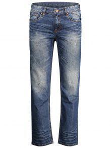جينز مستقيم بسحاب - ازرق 34