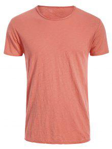 Mens Raw Edge Cotton Basic Tee - Jacinth Xl