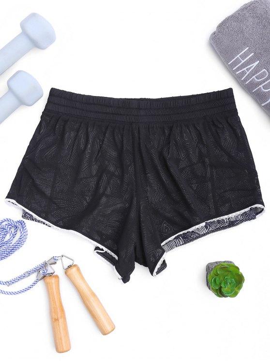 Mesh Layered Running Shorts - Black S
