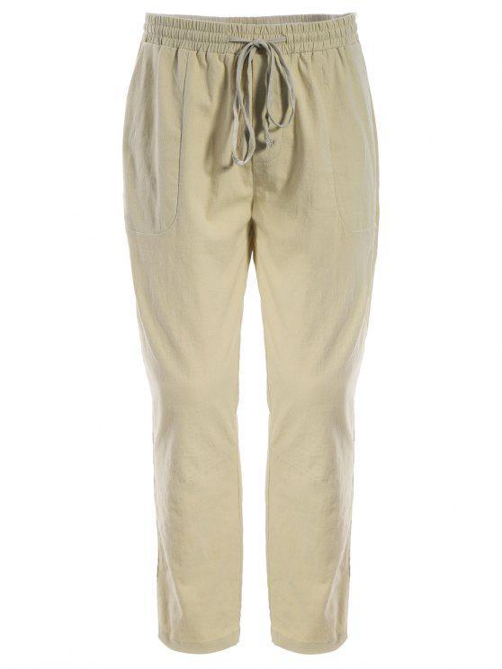 shop Mens Drawstring Joggers Pants - KHAKI L