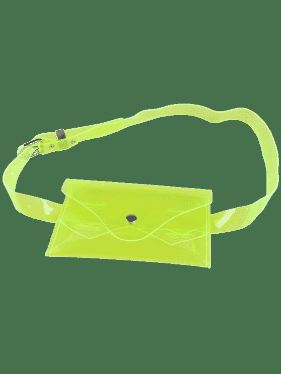 best Jelly Color Portable Waist Belt Bag - NEON GREEN