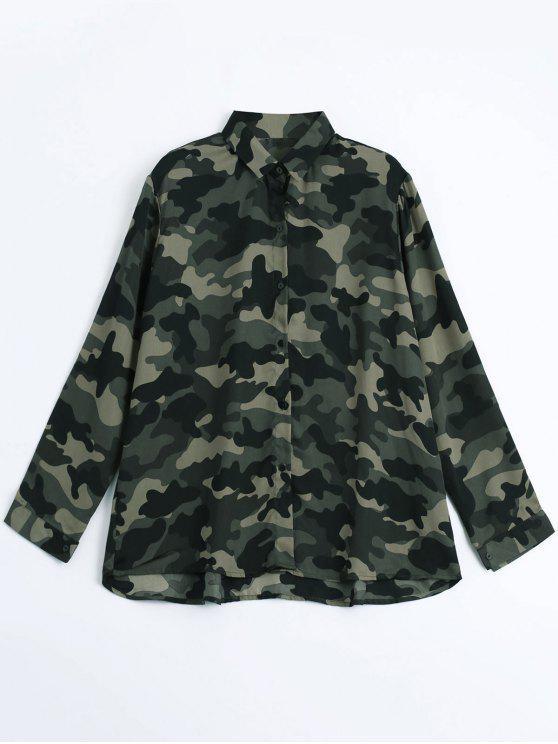 Camisa cómoda floja del camuflaje - ACU Camouflaje S