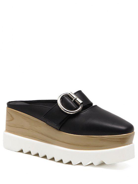 Zapatillas de plataforma con zócalo - Negro 37
