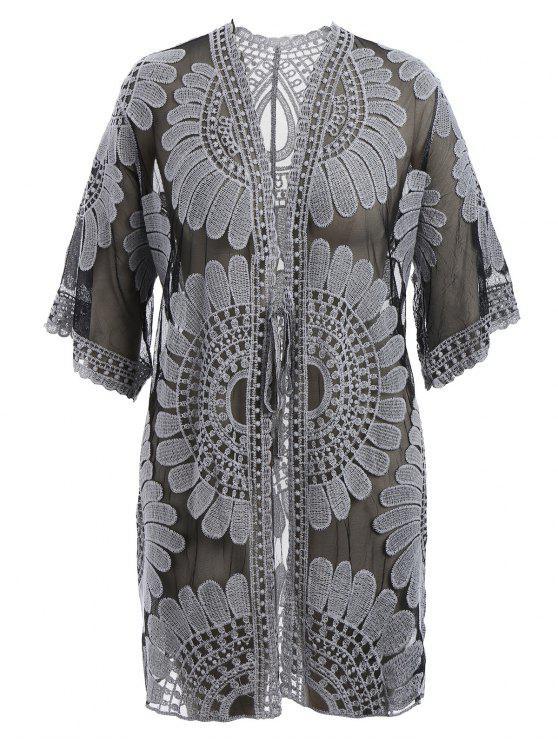 Robe de survêtement autocollant Kimono - Noir 2XL