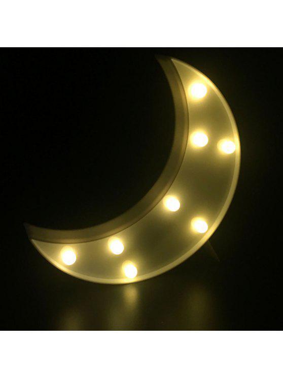 القمر شكل الصمام الجدول ضوء الليل - أبيض