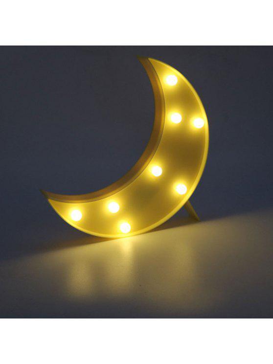القمر شكل الصمام الجدول ضوء الليل - الأصفر