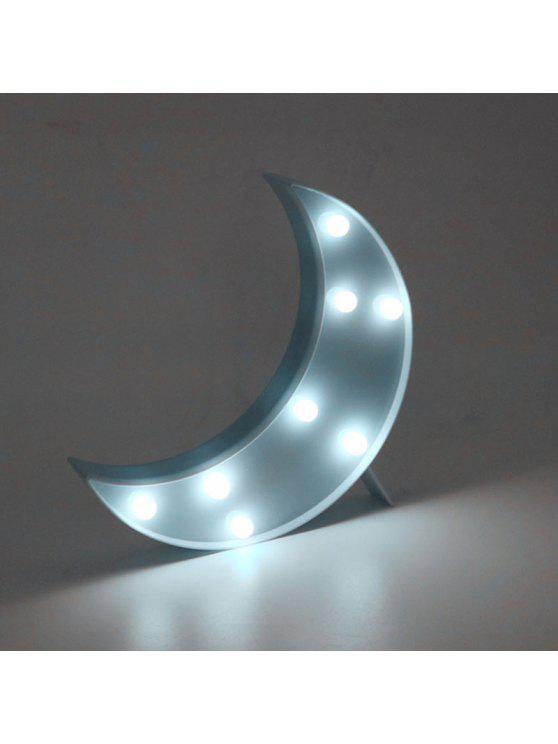 القمر شكل الصمام الجدول ضوء الليل - أزرق