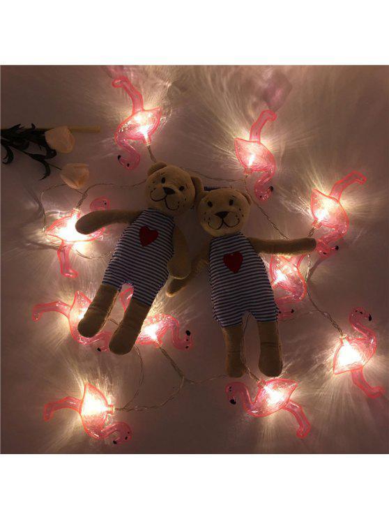 ليد سلسلة فلامنغو أضواء خرافية - أحمر