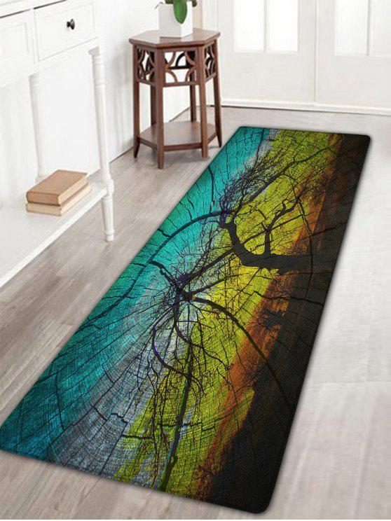 Fancy Wood Print Water Absorption Flannel Rug