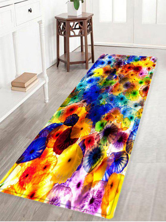 الملونة نمط المضادة للانزلاق امتصاص الماء منطقة البساط - مزيج ملون W16 بوصة * L47 بوصة