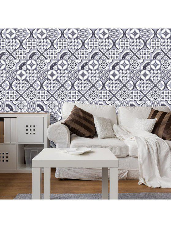 البوهيمي هندسية الزخرفية الفينيل الجدار ملصق - اللون الرمادي