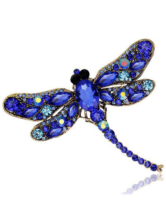 الرجعية فو جوهرة البطانة اليعسوب شكل بروش - أزرق