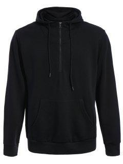 Mens Front Pocket Oversized Pullover Hoodie - Black L