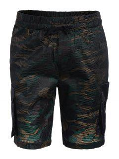 Camo Print Swim Cargo Board Shorts - Camouflage 2xl