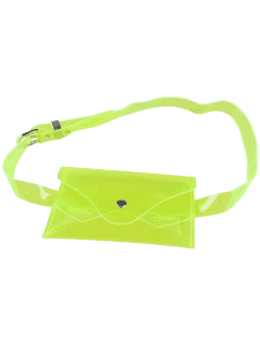 Jelly Color Portable Waist Belt Bag - Neon Green