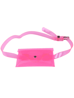 Jelly Color Portable Waist Belt Bag - Pink
