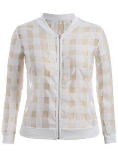 Organza Plus Size Sun Block Jacket - White 4xl