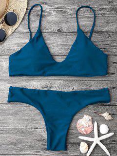 Ensemble De Bikini Paddé à Bretelle Réglable - Bleu M
