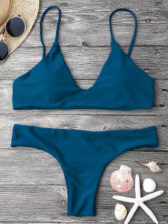 Ensemble De Bikini Paddé à Bretelle Réglable - Bleu S